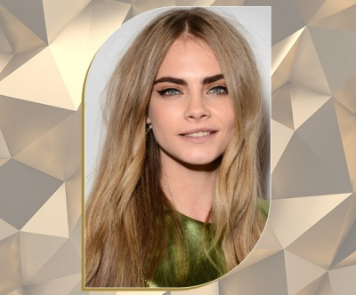 Long Ash Bronde Hair on Cara Delevingne