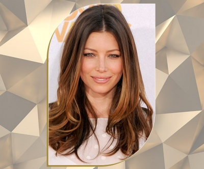 Auburn Bronde Layers on Jessica Biel