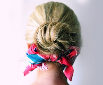 Hair Scarves: Off-duty Ballerina