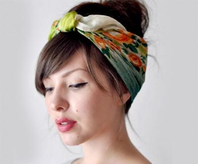 Hair Scarves: Headband Hack