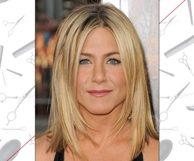 Jennifer Aniston's Angled Layers