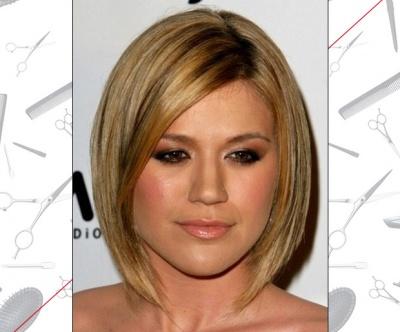 Kelly Clarkson's Asymmetrical Bob