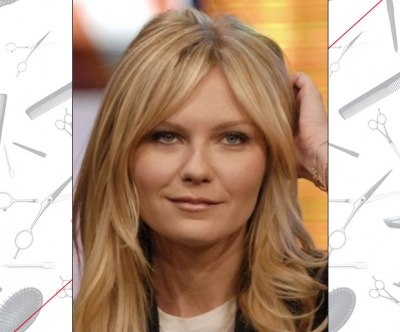 Kirsten Dunst's Curtain Bangs