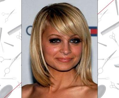 Nicole Richie's Side-Swept Bangs