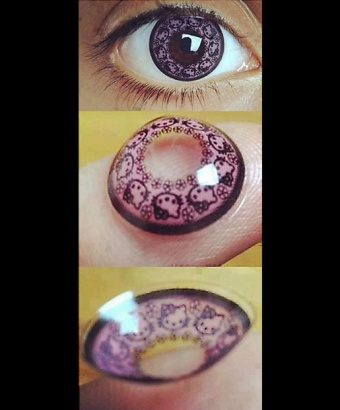 848bb023d Hello Kitty Contact Lenses; Would You Ever?