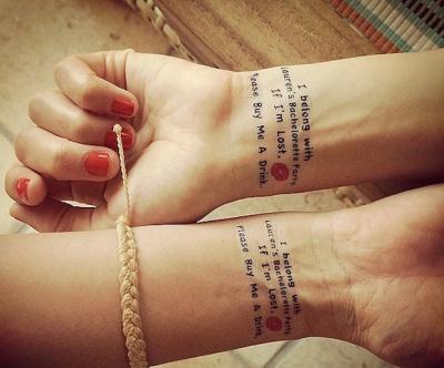 Lauren conrad wrist tattoo
