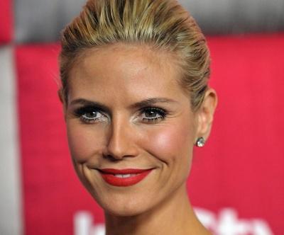 Matte Makeup: Matte Lips on Heidi Klum