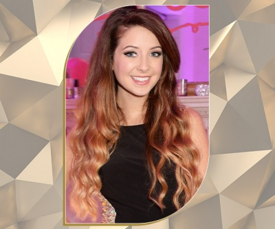 Ombre Bronde Ultra-Long Locks on Fashion and Beauty Blogger Zoella