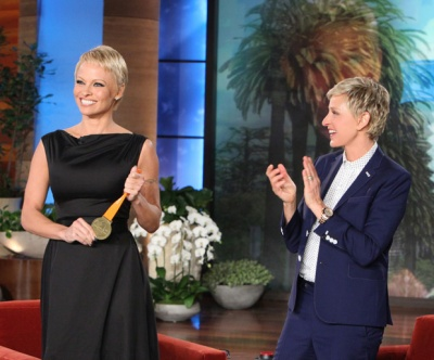 Ellen's audience gave Pam Anderson (and her new hair) a rousing round of applause