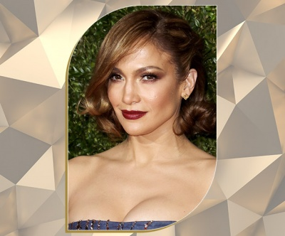 Touch of Gold Bronde Retro Updo on Jennifer Lopez