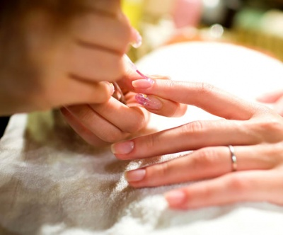 Prep nails with a clear base coat