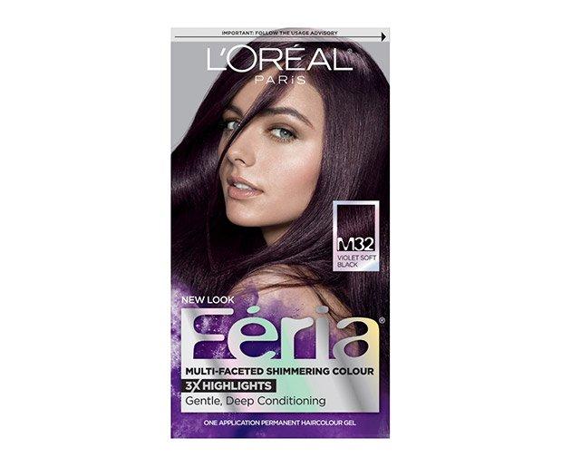 L Oreal Paris Feria Multi Faceted Shimmering Color In Violet Soft Black