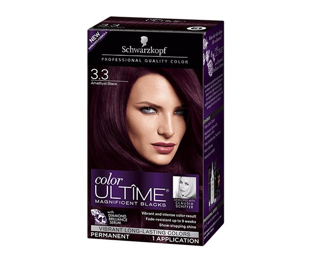 Schwarzkopf 3 Amethyst Black Hair Color