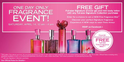 Join Bath & Body Works for a Spring Fragrance Party