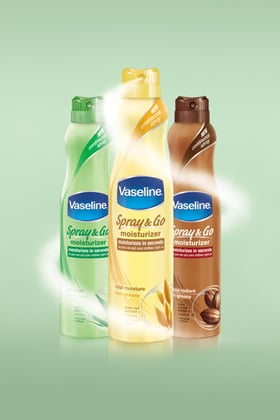 The Ultimate Morning Time Saver: New Vaseline® Spray &amp Go Moisturizer