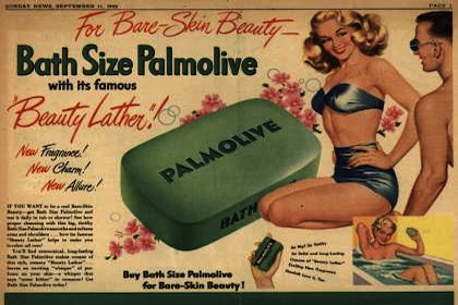 Throwback Thursday: Palmolive Beauty Lather, 1949