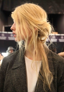 Fashion Week How-To: Messy Half Updos at Rebecca Minkoff Show
