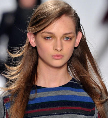 Fashion Week How-To: Messy Side Part at the Richard Chai Show