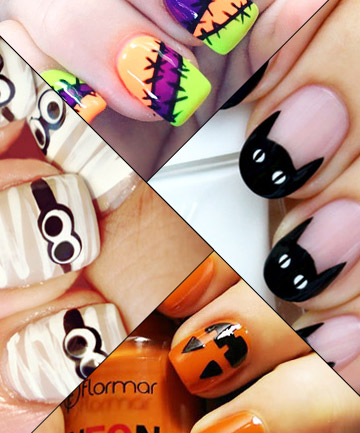 19 Diy Halloween Nail Art Ideas