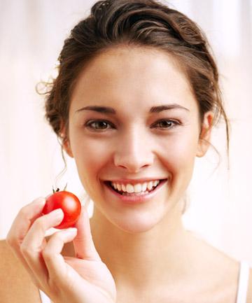 Natural healthy facial skin