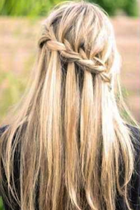 Yay! I Finally Learned How to Do a Waterfall Braid!