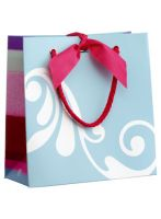 The Body Shop Small Blue & White Gift Bag