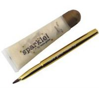Laura Geller White Sparkle Lip Gloss w/Retractable Lip Brush