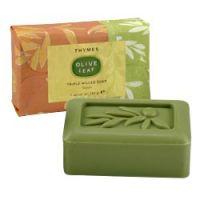 Thymes Olive Leaf Triple Milled Bar Soap