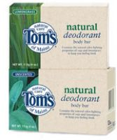 Tom's of Maine Natural Deodorant Body Bar