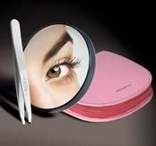 Tweezerman Mirror & Tweezer Set with Pink Case