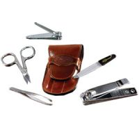 Caswell-Massey Leather Manicure Set - 5 piece Set