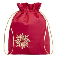 The Body Shop Red Satin Drawstring Bag