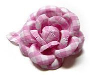 Dominique Duval Gingham Camelia on a Bobbi Pin