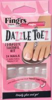 Fing'rs Dazzle Toez Glue On Nails