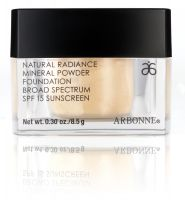 Arbonne Natural Radiance Mineral Powder Foundation Broad Spectrum SPF 15 Sunscreen