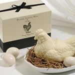 Gianna Rose Atelier Pretty Little Hen Soap With Soap Eggs In Porcelain Dish