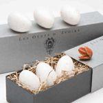 Gianna Rose Atelier Ivory Egg Soaps in Slider Gift Box