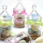 Gianna Rose Atelier Colored Egg Soaps in Apothecary Jars