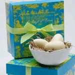 Gianna Rose Atelier Yellow Egg Soaps in Nest Dish