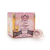Jaqua Pink Champagne Lip Gloss Ring