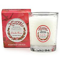Mistral Lychee Rose Faceted Glass Candle