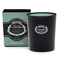 Mistral Cedarwood Marine Black Glass Candle