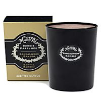 Mistral Sandalwood Bamboo Black Glass Candle