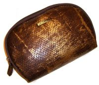 Illuminare Snakeskin Cosmetic Bag