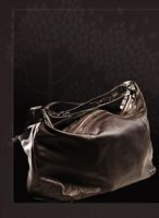 Hourglass Leather Cosmetic Bag