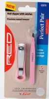 Red by Kiss The Perfect Pair Tweezers and Nail Clipper Set