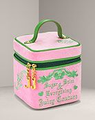 Juicy Couture Square Velour Train Case
