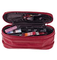 Mark marc Expandable Red Cosmetics Case