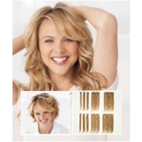 PutOnPieces POP - 14 ' Curled Ten Piece Clip-in 100% Human Hair