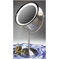 Zadro Two-Sided Flourescent Pedestal Mirror
